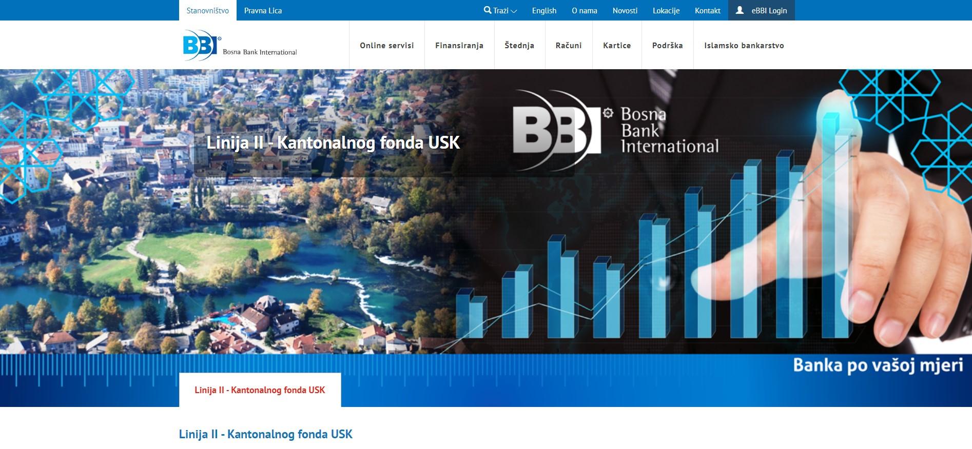 II Linija finansiranja -Bosna Bank International