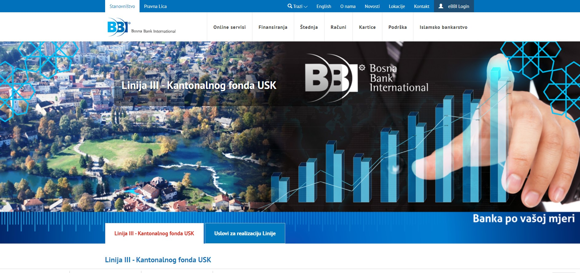 III Linija finansiranja -Bosna Bank International